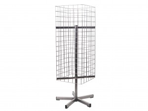 Display/stand, revolving, mesh panel