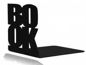 "Black book holder, stand for books ""BOOK"""