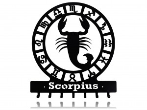 "Key holder, hanger for keys or clothes ""SIGN OF THE ZODIAC - SCORPIUS"""